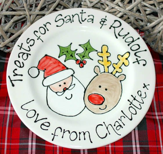 Personalised santa rudolf christmas gift plate personalised baby personalised santa rudolf christmas gift plate negle Gallery