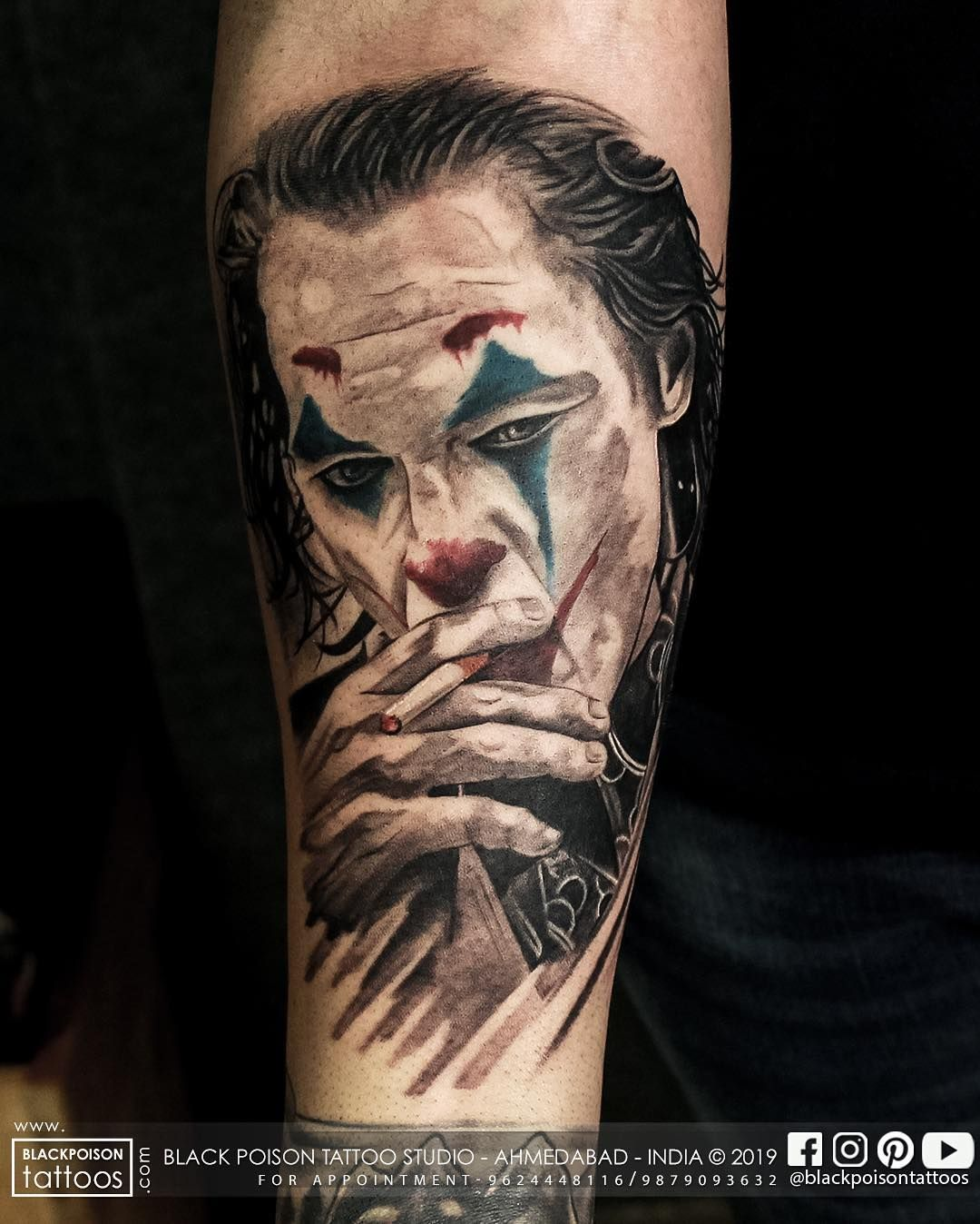 33 Cool Joker Tattoos That You Will Love Joker Tattoo Tattoos Joker Tattoo Design