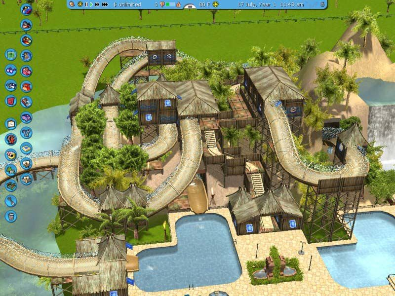 roller coaster tycoon 3 scenery | Water parks for roller