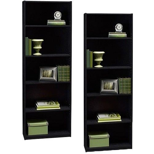 Ameriwood Set of 2 (Bundle) 5-shelf Bookcases. Choice of ...