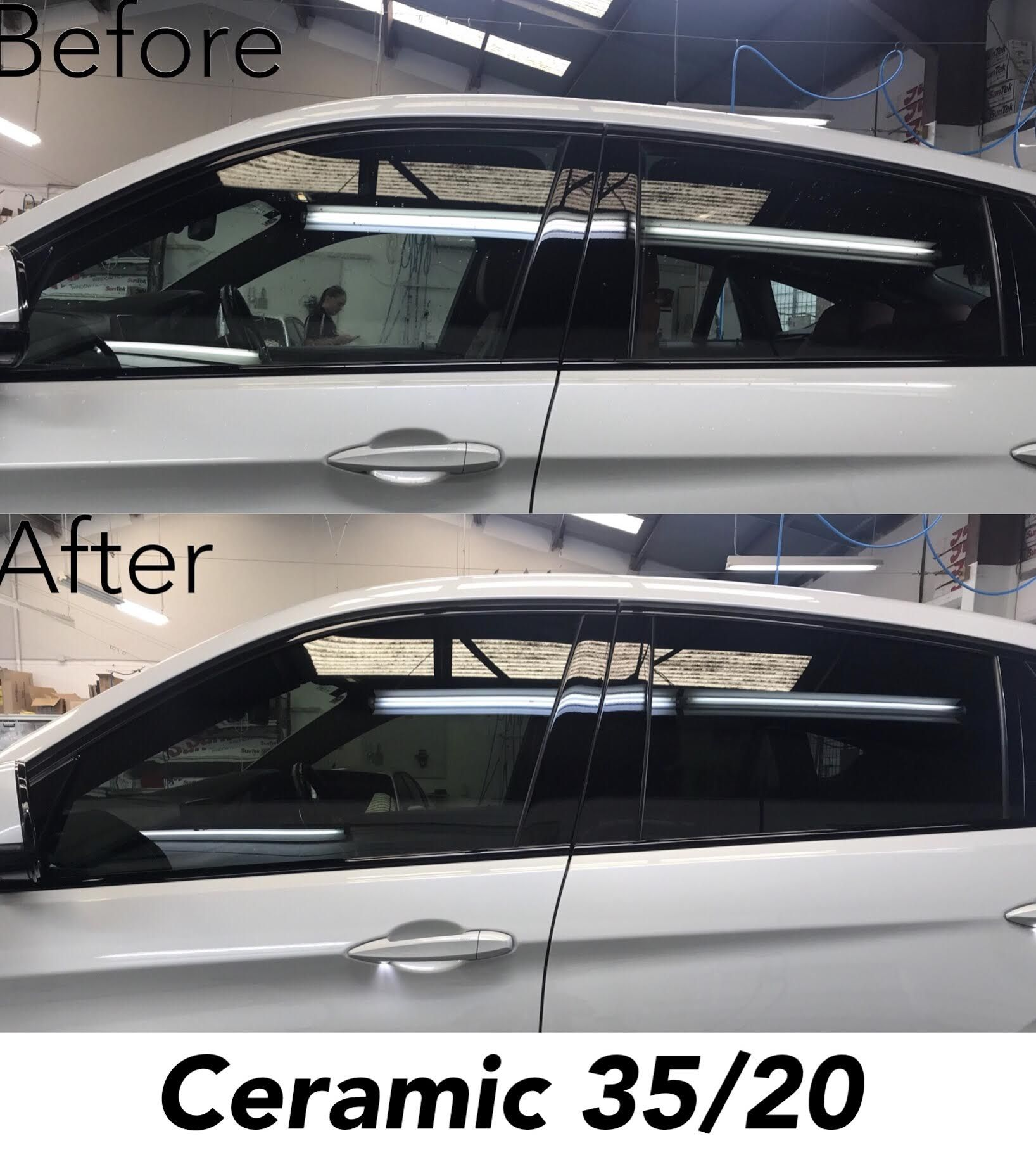 3m Ceramic Window Tint 35 20 On Bmw X6 Before And After Photos Tinted Windows Bmw X6 Tints