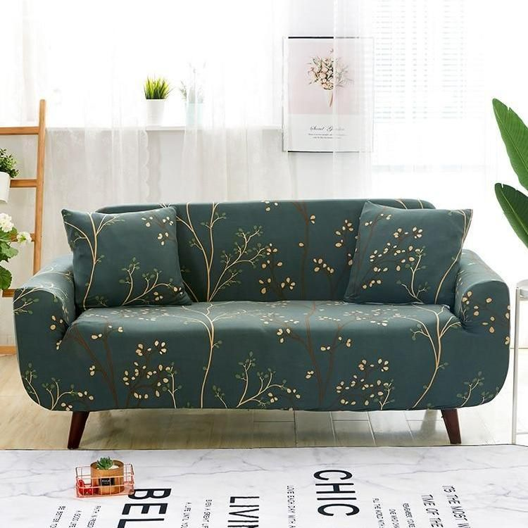 Forest Green Tree Branch Pattern Sofa Couch Cover in 2019 ...