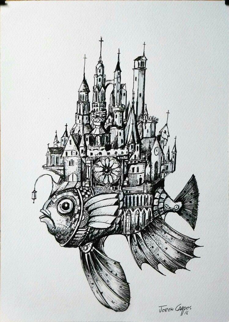 Jorge Campos Arte Plumilla Dibujo Surrealistas Fotografias