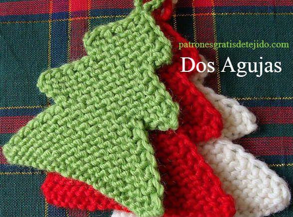 Agarradera tejida con dos agujas   Navidad y Pascua   Pinterest ...