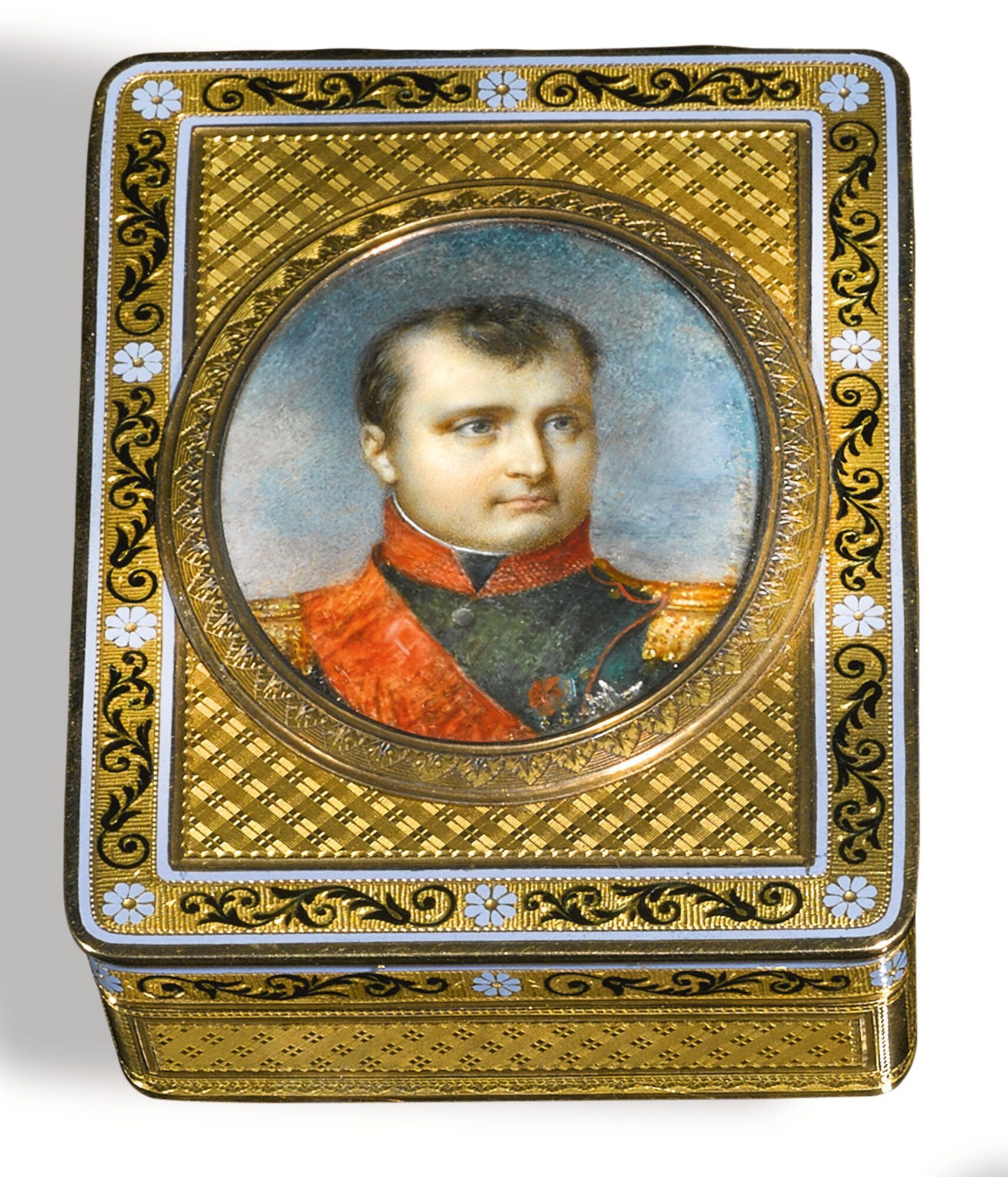 a gold and enamel portrait snu ||| snuff box ||| sotheby's l17301lot95dwben