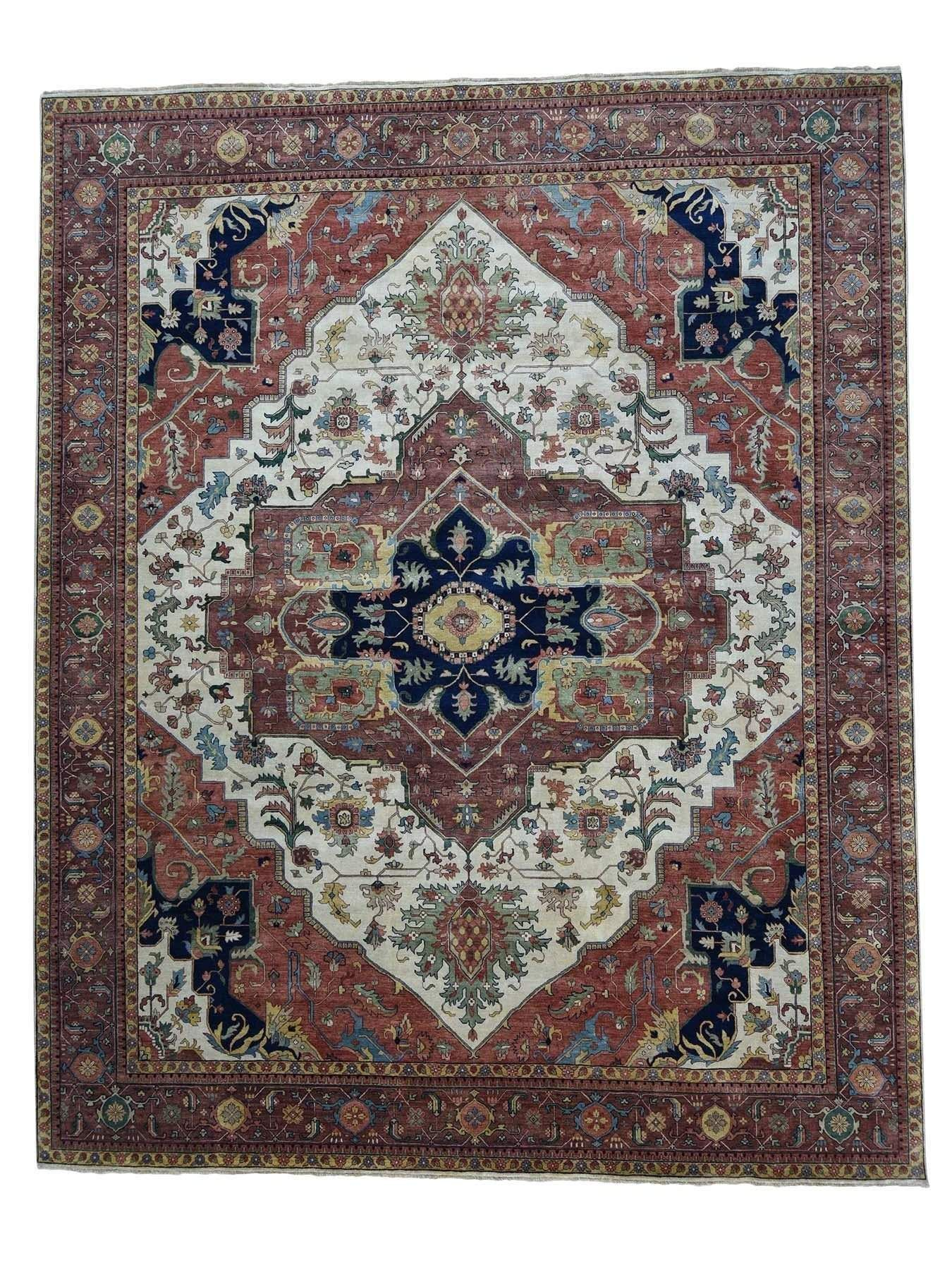 Vintage Wool Rug This Rug Measures 12 2 X 15 2 In Size The Design Is A Vintage Tabriz Hand Knotted Wool Rug T Vintage Wool Rug Wool Rug Colorful Rugs