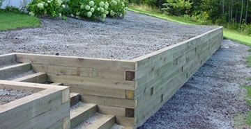 1000 images about wood retaining wall on pinterest wood retaining wall retaining walls and sleeper retaining wall
