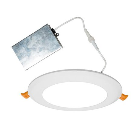 Nicor Lighting 6 Inch 2700k Led Edgelit Flat Panel Retrofit Downlight Round Dle6 10 120 2k R Recessed Lighting Kits Recessed Lighting Shower Recess