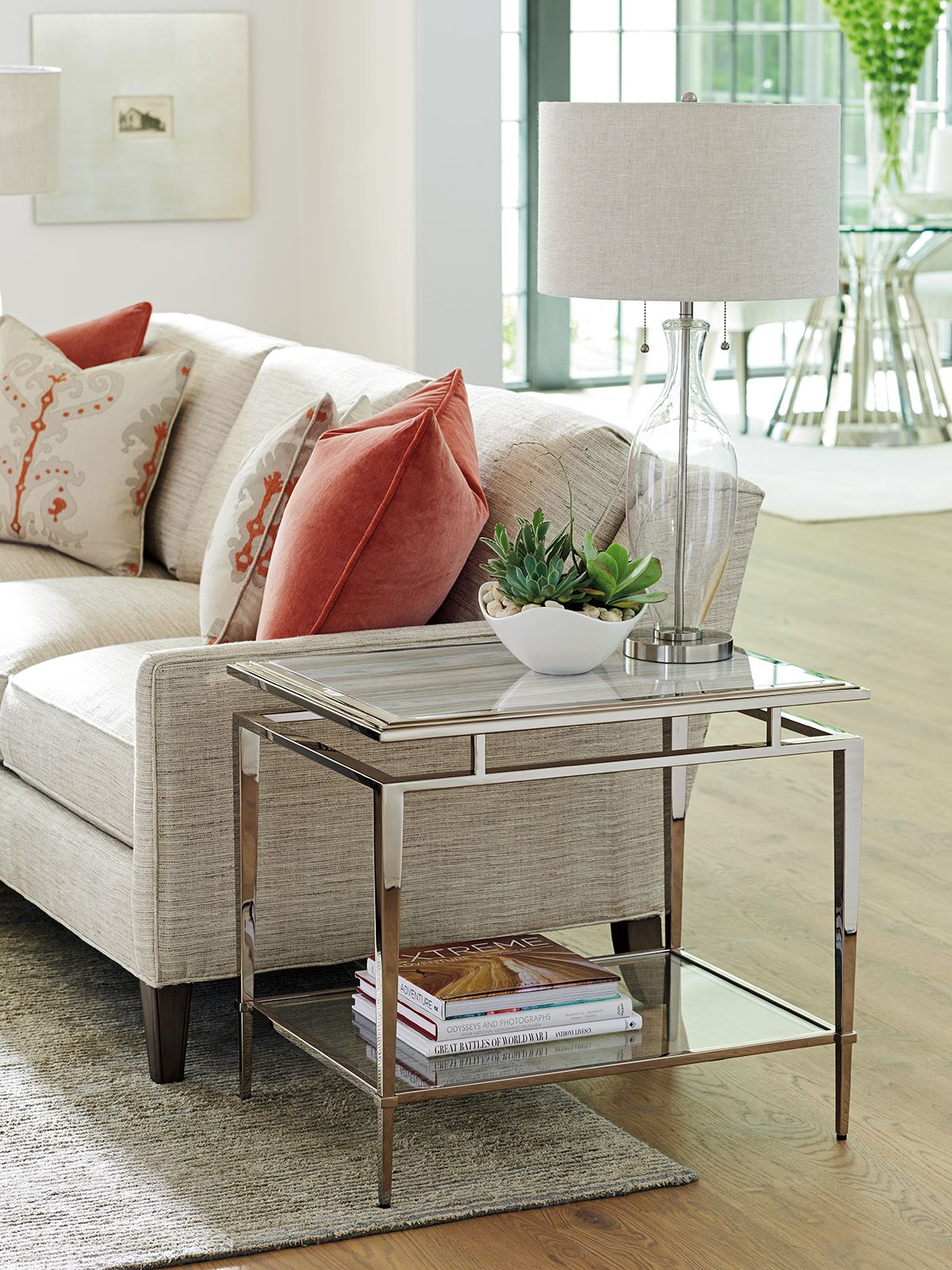Ariana Athene Stainless End Table Lexington Home Brands With