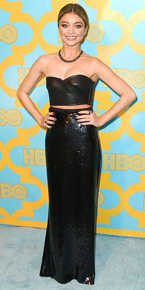 The Golden Globes Gowns You Didn't See!   People - Sarah Hyland in Emilio Pucci