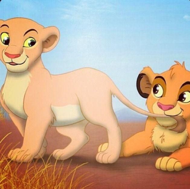 lion kiddos  cute  simba and nala cubs