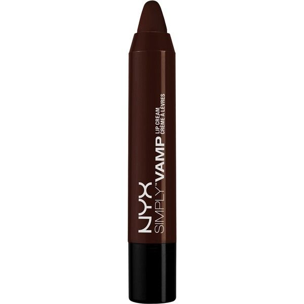 Nyx Cosmetics Simply Vamp Lip Cream (£11) ❤ liked on Polyvore featuring beauty products, makeup, lip makeup, aphrodisiac, beauty, womens-fashion, nyx makeup, nyx cosmetics, lip gloss makeup and nyx