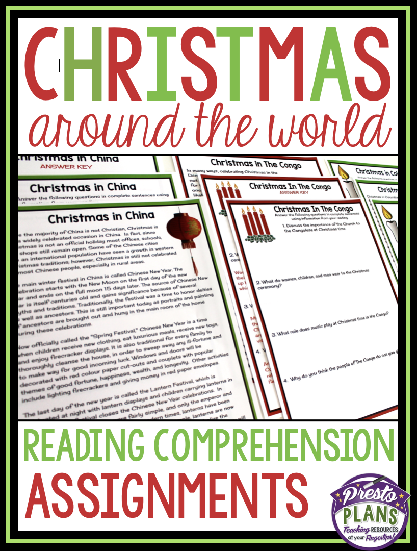 Christmas around the world reading comprehension | Good for School ...
