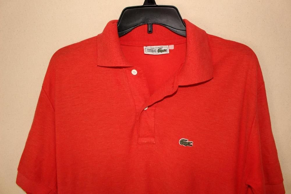 Chemise lacoste mens polo shirt made n france red color vintage chemise lacoste mens polo shirt made n france red color vintage gator logo shirt lacoste sciox Images