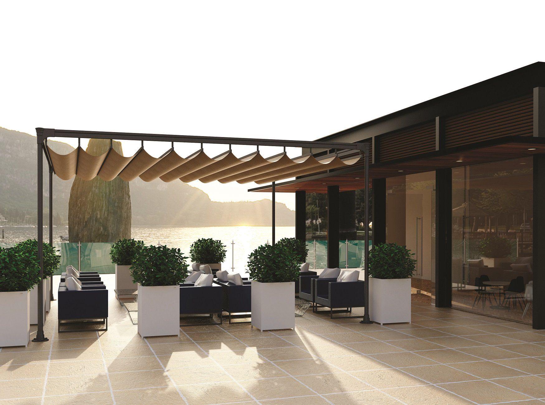 freistehende pergola beschattung 6 meter x 6 meter garten pinterest sonnenschutz terrasse. Black Bedroom Furniture Sets. Home Design Ideas
