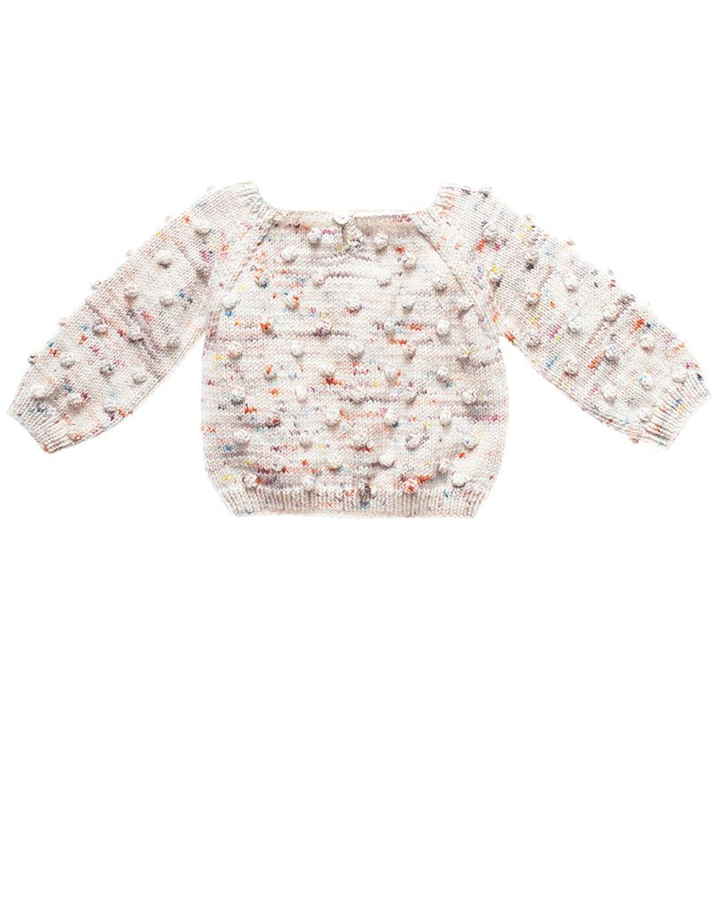 Misha and Puff Organic Baby Popcorn Sweater in Confetti Cake - Noble Carriage