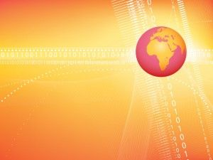 Red globe business powerpoint template has a orange background color red globe business powerpoint template has a orange background color and the world map image in gumiabroncs Choice Image