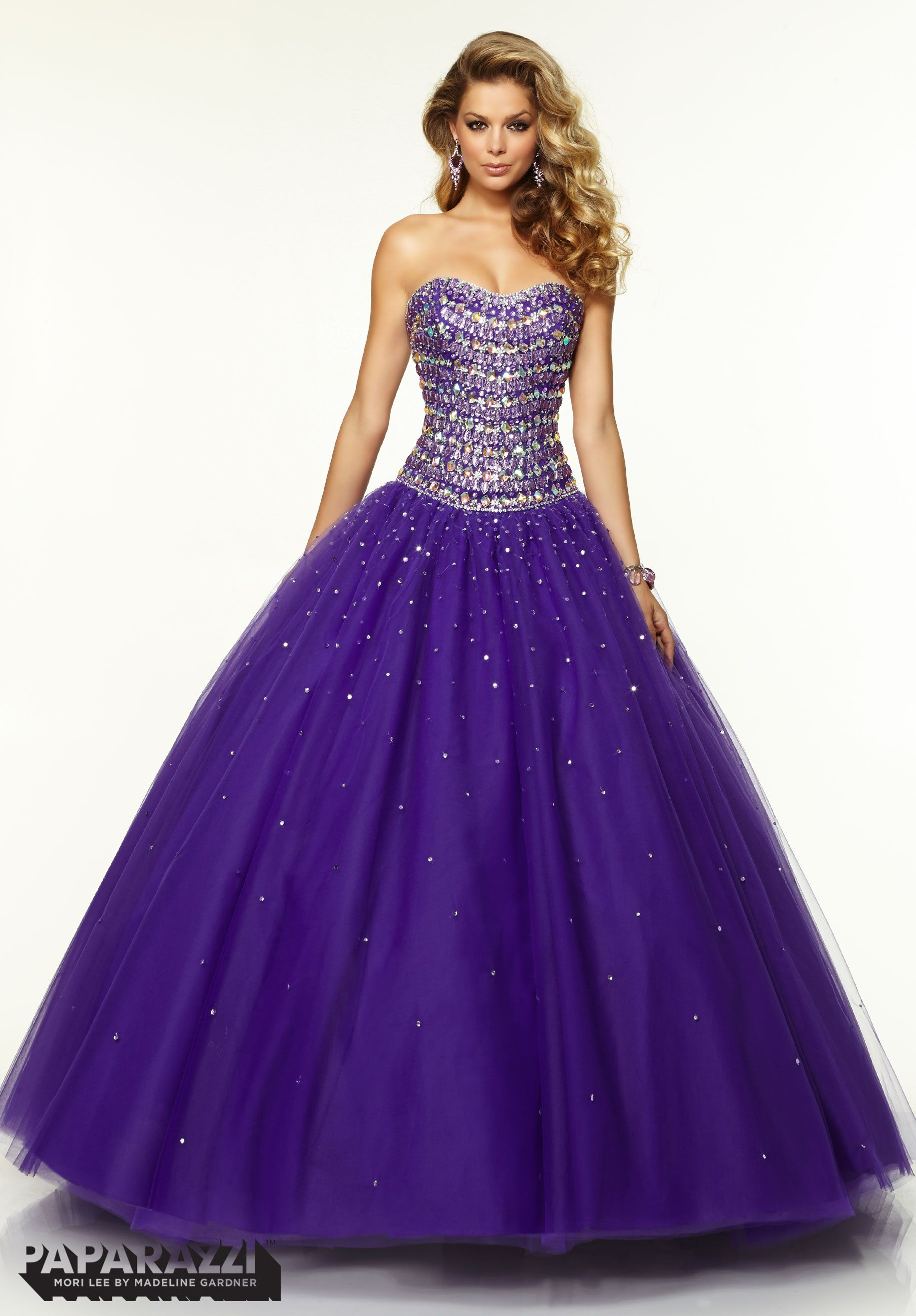 Prom Dresses / Gowns Style 97094: Jeweled Beading on Tulle Ballgown ...