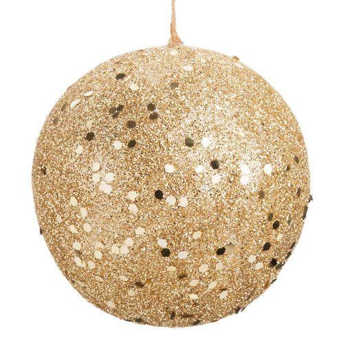boule de no l golden glitter maisons du monde pinterest boules de no l decoration de noel. Black Bedroom Furniture Sets. Home Design Ideas