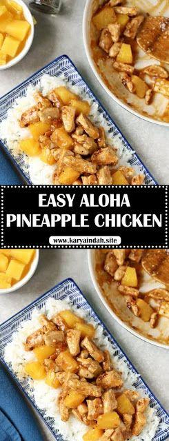 EASY ALOHA PINEAPPLE CHICKEN - #recipes #hawaiianfoodrecipes