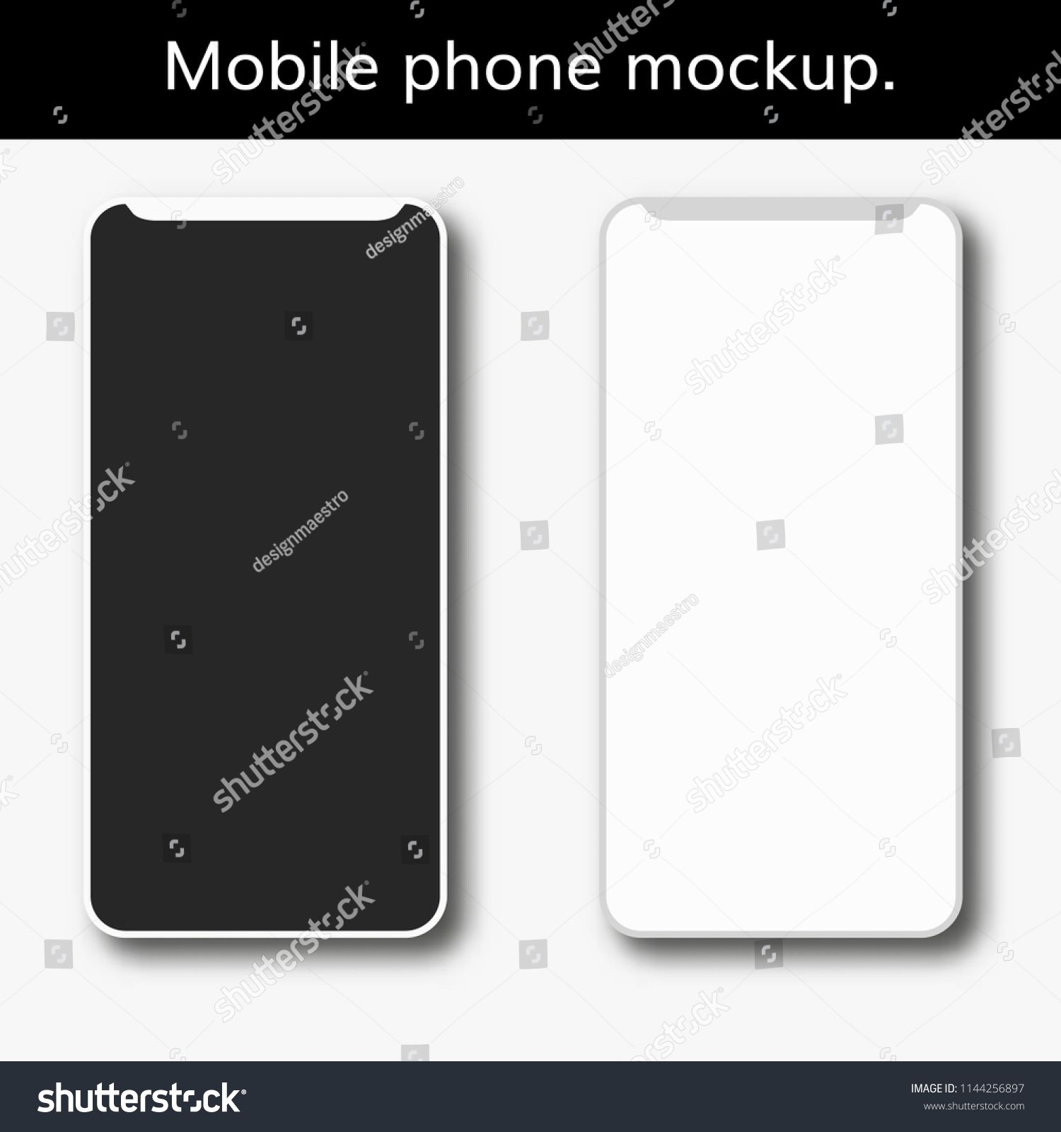 Realistic Smartphone With Blank Screen Isolated Cell Phone Mockup White And Black New Modern Telephonescreen I Phone Mockup Phone Photography Tutorials Nikon