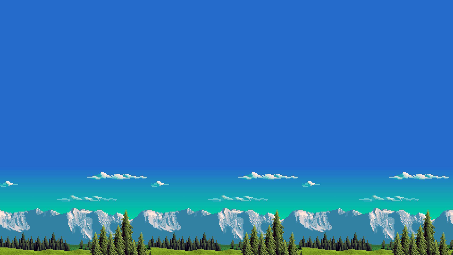 Pixel Art Landscapes Pixel Art Landscape Pixel Art Water Illustration
