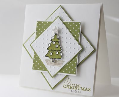 Cards With Dimension Handmade christmas, Christmas tree and Layering