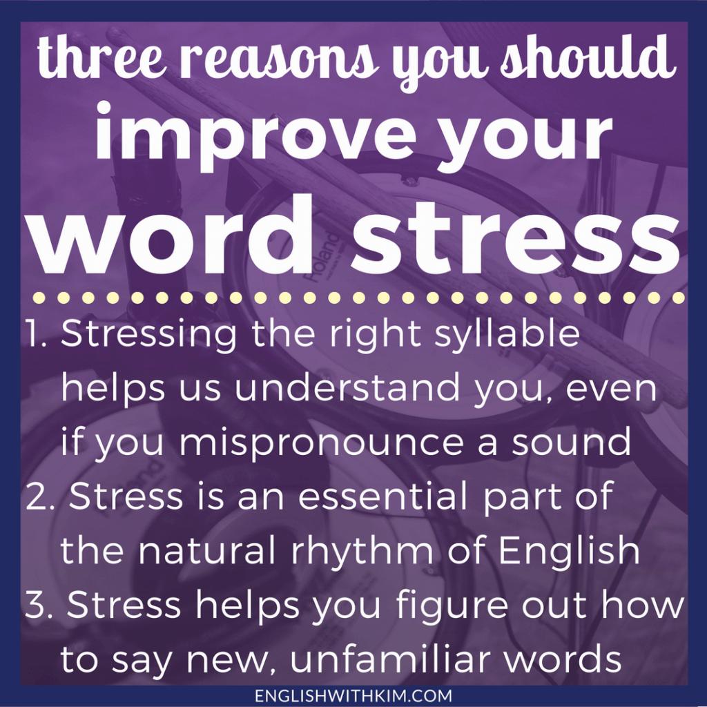 Word Stress In American English English Rhythm And