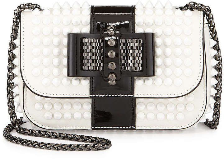 6c77eaed76a Christian Louboutin Sweety Charity Spiked Bicolor Crossbody Bag ...