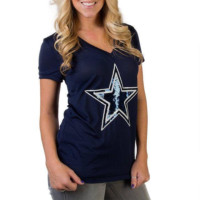 Tone on tone sequin mascot Dallas Cowboys PINK Bling Jersey  2f4180387