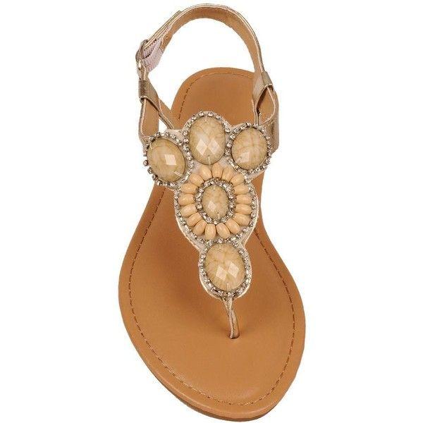 Black Rivet Women's Slingback Sandal w/ Stones (€33) ❤ liked on Polyvore featuring shoes, sandals, sling back shoes, sling back sandals, slingback sandals, kohl shoes and black slingback sandals