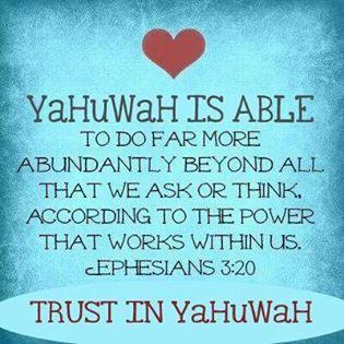 YaHuWaH is able | HalaluwYaH   praise YaHuWaH | Scripture