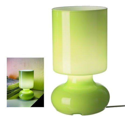 Ikea Green Lykta Glass Table Lamp Retro Style Bedroom