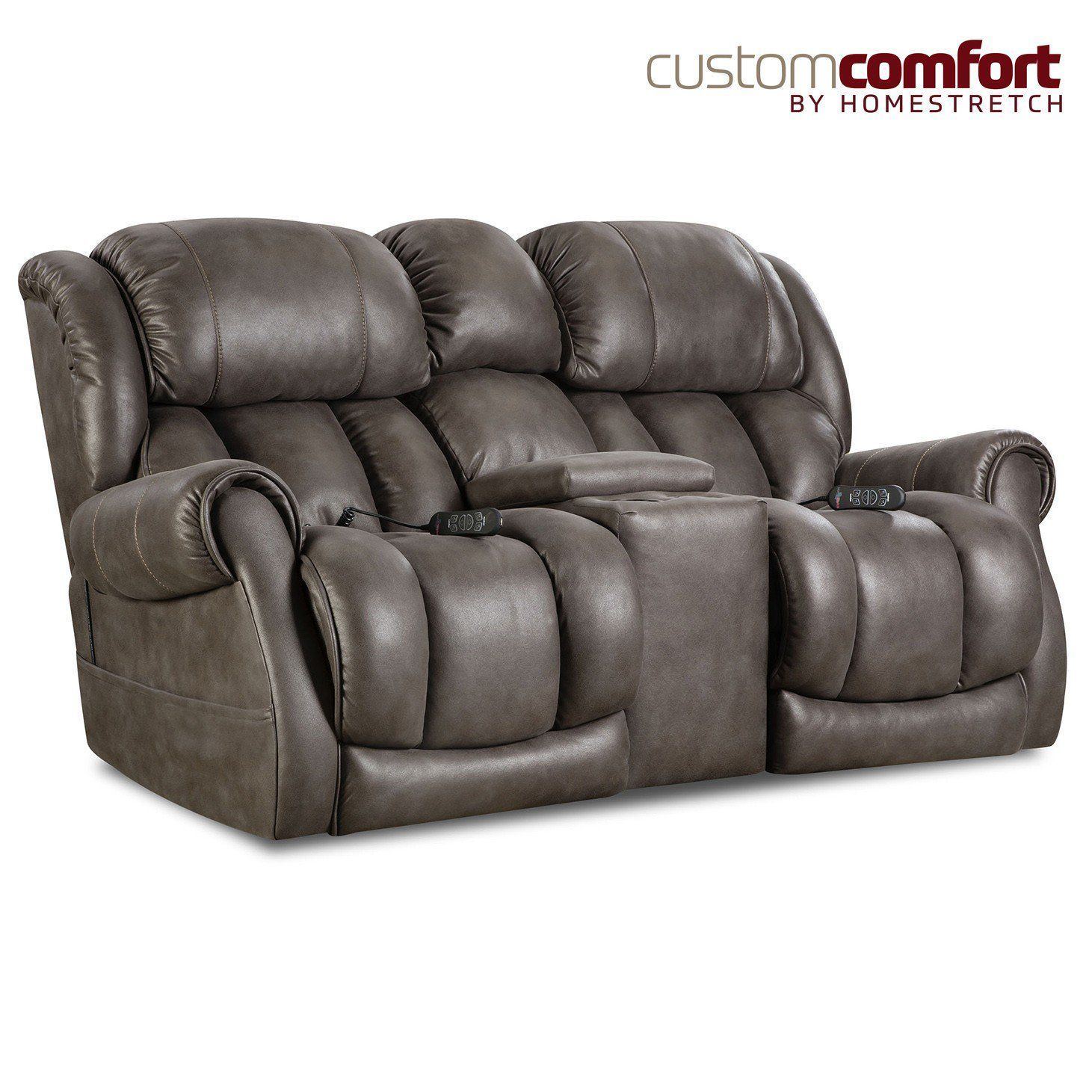 Homestretch Atlantis Power Loveseat With Power Headrest And Power