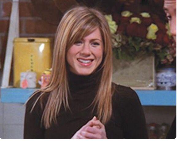 Rachel Green Season 10 Long Hair Side Bangs Rachel Green Hair Long Hair Styles Jennifer Aniston Hair