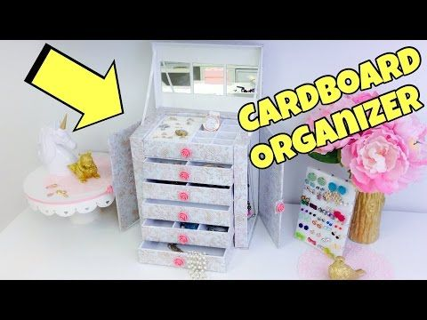 Original and creative Ideascardboard organizerjewelry holder