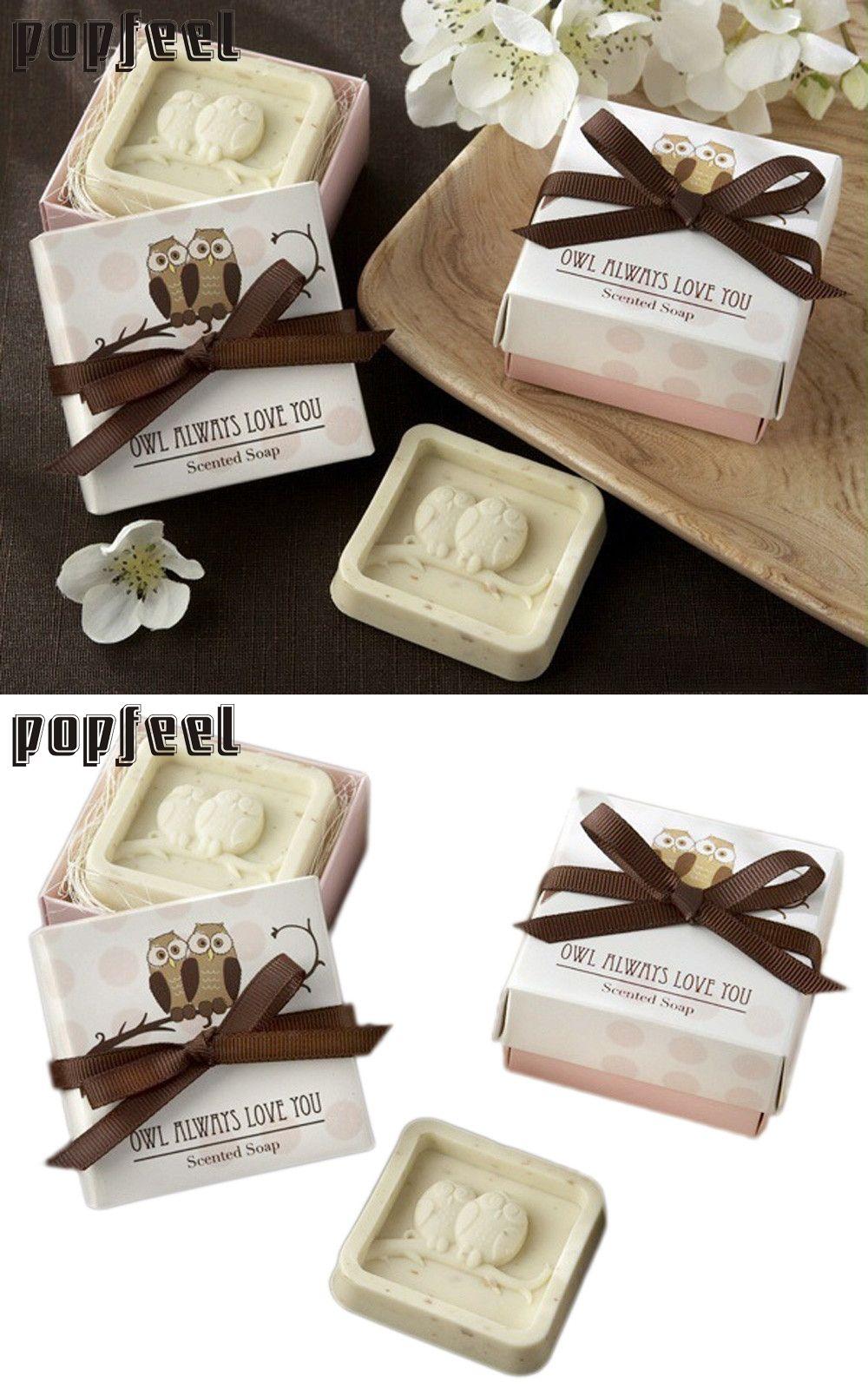 2017 Hot Handmade Owl Design Bath Soap Wedding Valentine Party Love ...