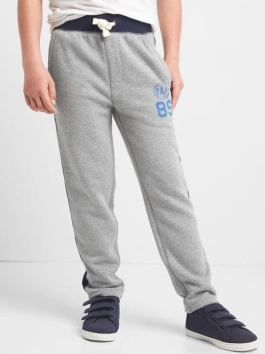 5e9f73cde Gap Boys Logo Varsity Sweats Grey Heather