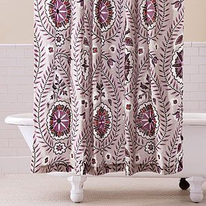 Casbah Paisley Shower Curtain At World Marketdesign Is In Grey Ivory And Purple Could Paint The Bathroom Or