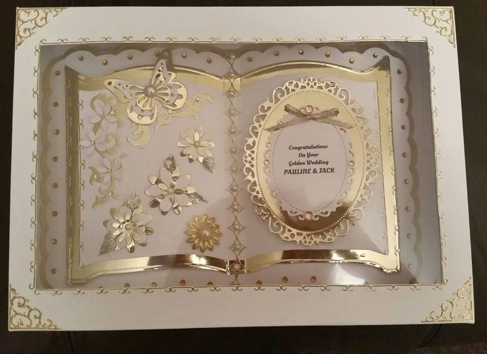 Bookatrix Golden Wedding Cards Handmade Paper Craft Greeting Cards Wedding Cards