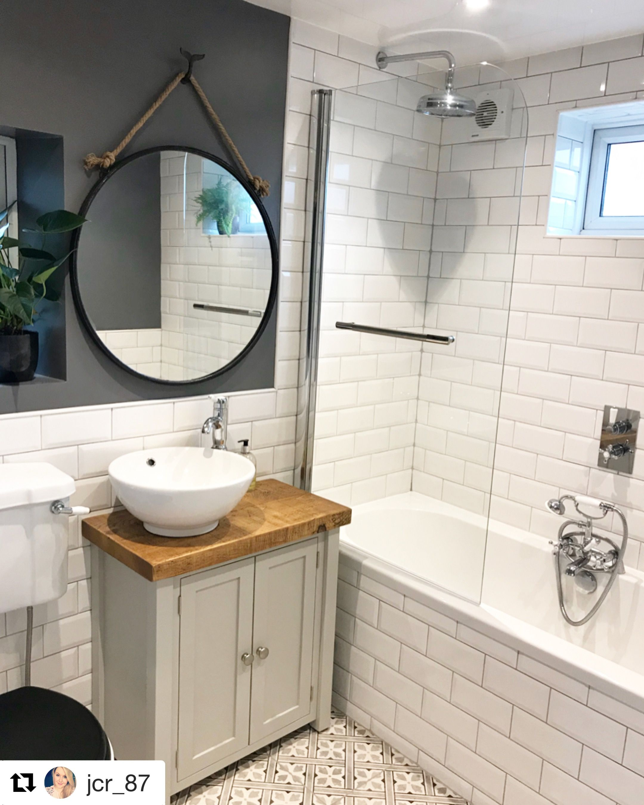 This Gorgeous Bathroom Was Shared With Us By Victoriaplum Com Customer Jcr 87 That Mirror Small Bathroom Sinks Small Bathroom Vanities Small Bathroom Decor
