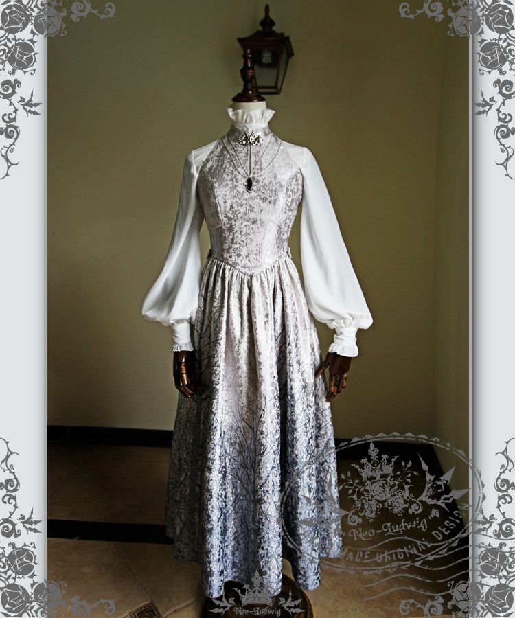 422a5af16b45 fanplusfriend - Ice Forest Elegant Gothic Lolita Fairy Queen Ceremony  Jaquard Dress/OP, $138.00