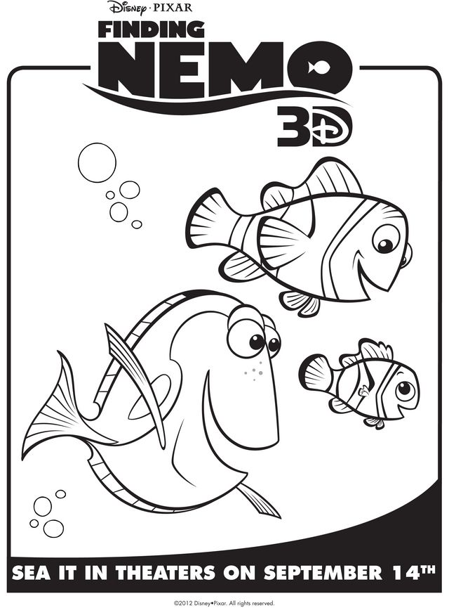 nemo coloring pages to print nemo marlin dory free printable coloring