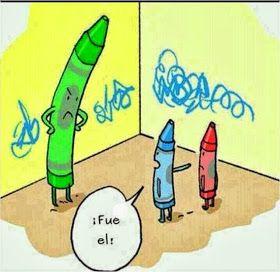 Frases, chistes, anécdotas, reflexiones, Amor y mucho más.: Chiste gráficos. ¿Quien pinto la pared?