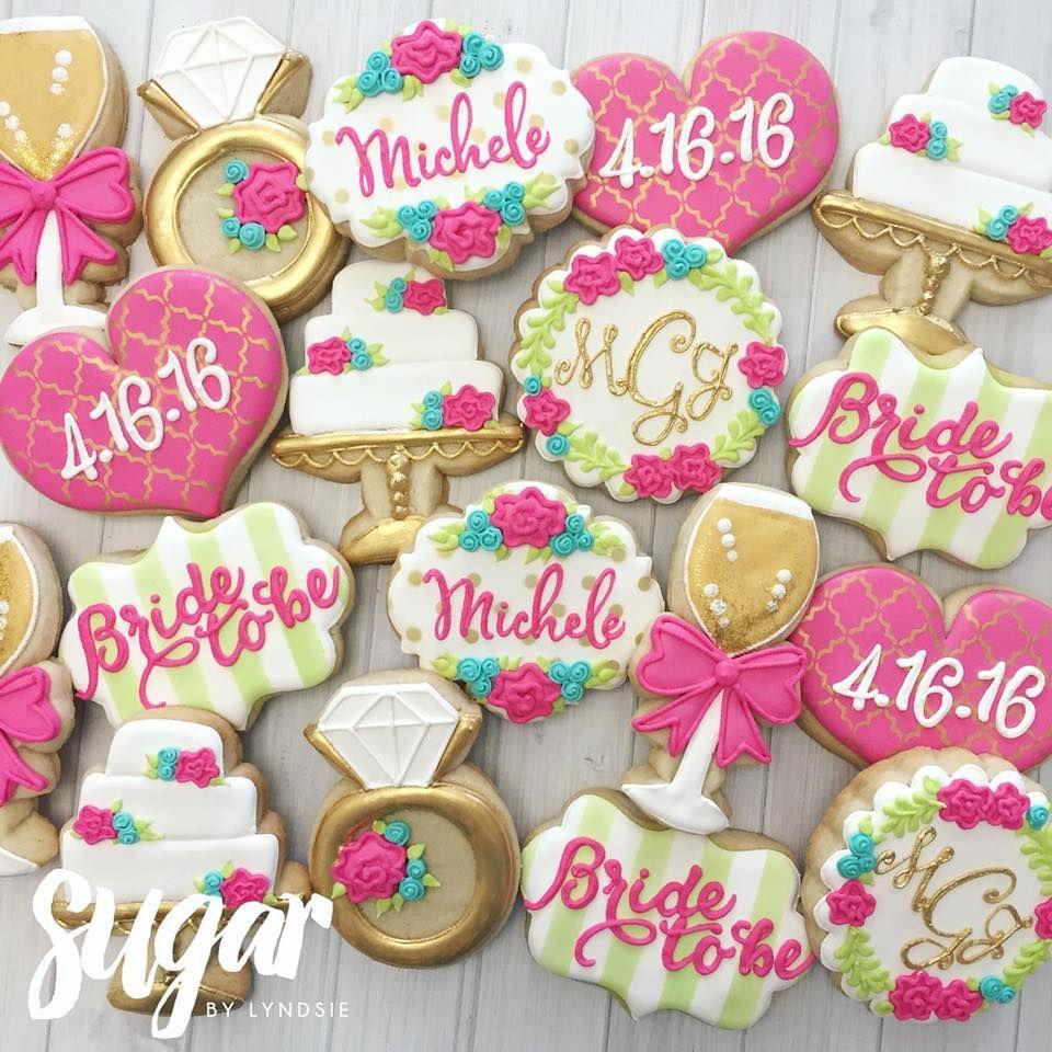 Lately! Sugar by Lyndsie Wedding shower cookies