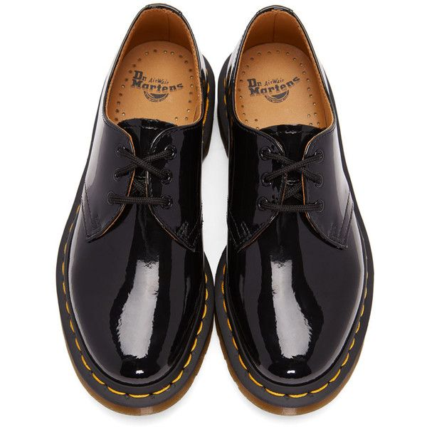 Dr Martens Black Patent 1461 Derbys 99 Liked On Polyvore Featuring Shoes Oxfords Dr Mart Black Patent Shoes Patent Oxford Shoes Patent Leather Oxfords