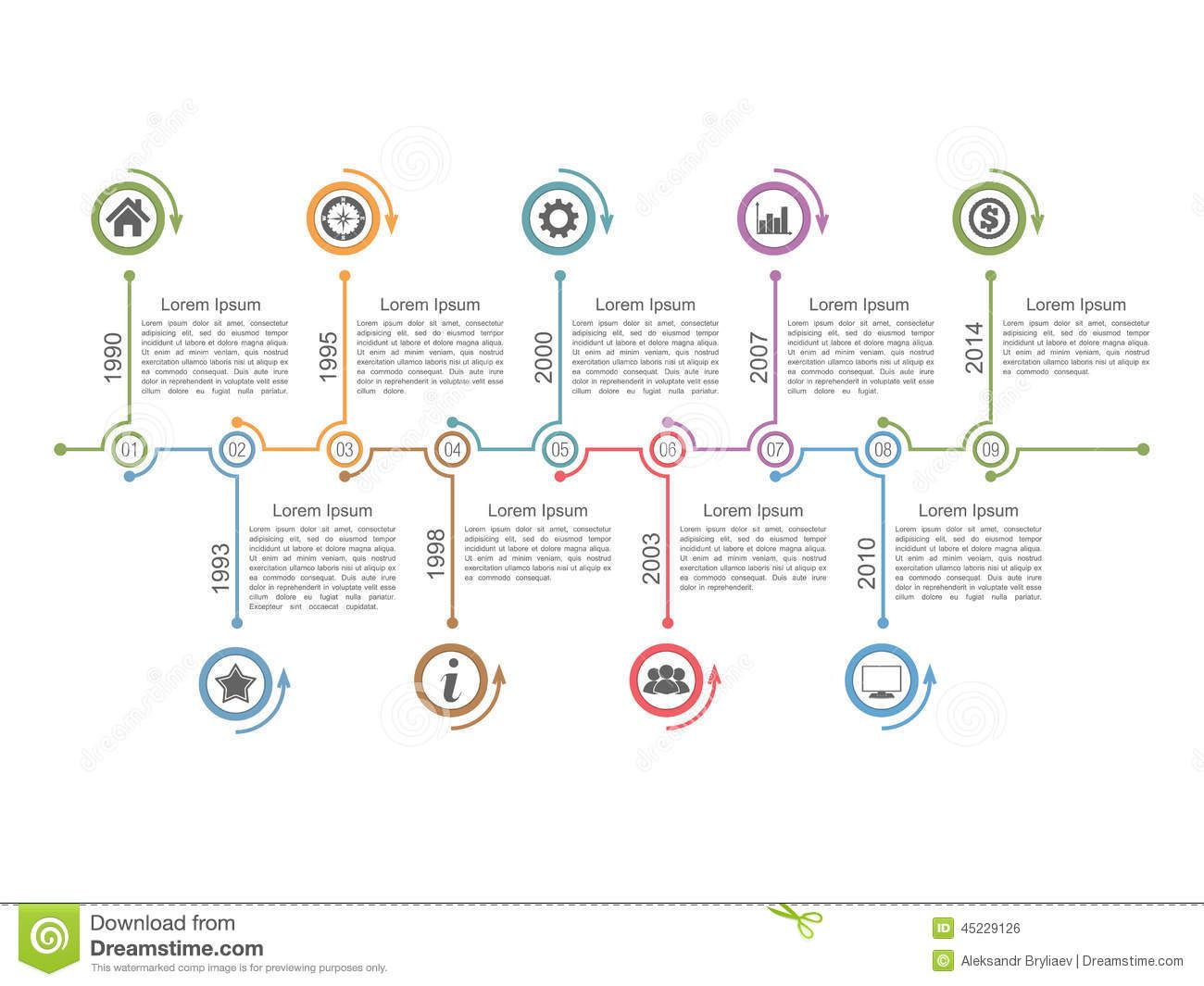 Timeline infographics design template, vector eps10 ...