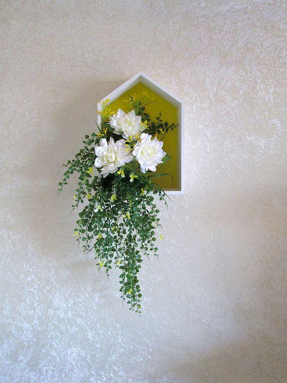 Silk Flower Arrangement in a Wall Decor Box by AlwaysInBloomFloral ...
