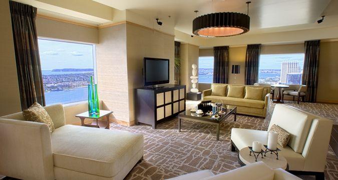 Hilton san diego bayfront hotel ca presidential suite - San diego 2 bedroom suite hotels ...