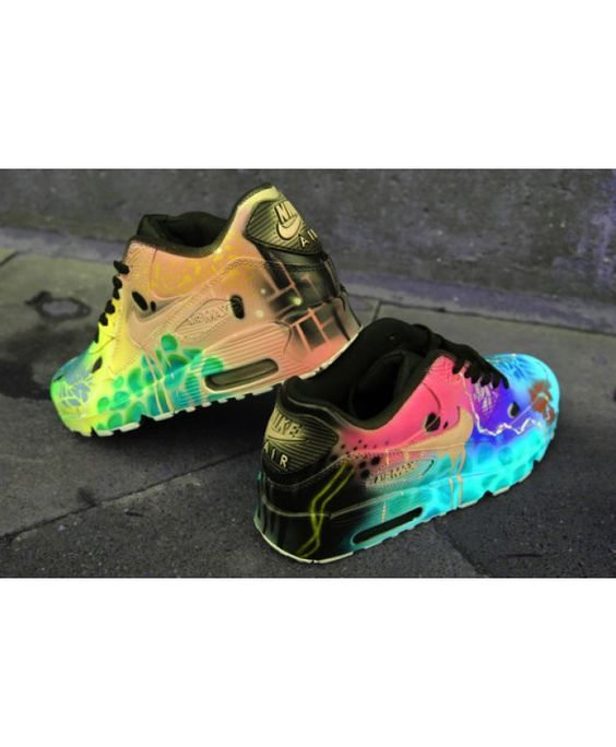 cbd56822e058 Nike Air Max 90 Candy Drip Crazy Funky Colours Trainer